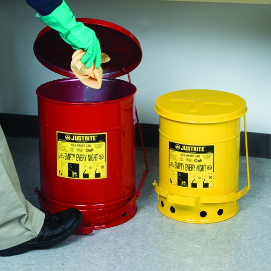 Oily waste can Justrite - Protecta Solutions