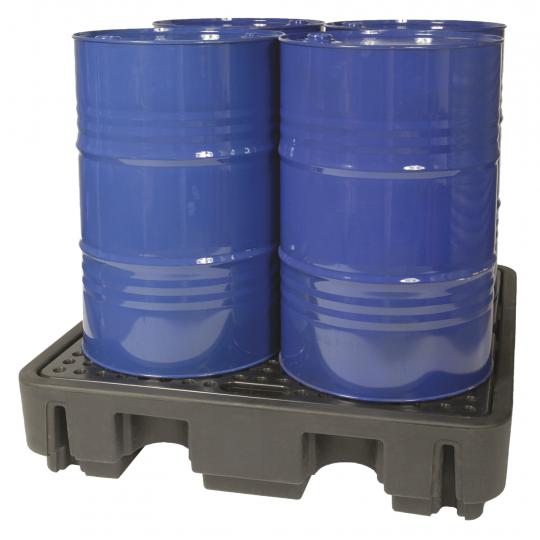 Kunststof lekbak voor 200 L vaten - Protecta Solutions