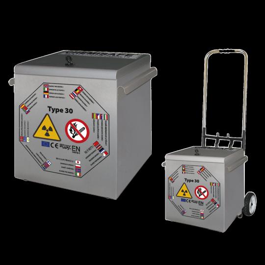 30 minuten brandwerende koffer voor radioactieve stoffen