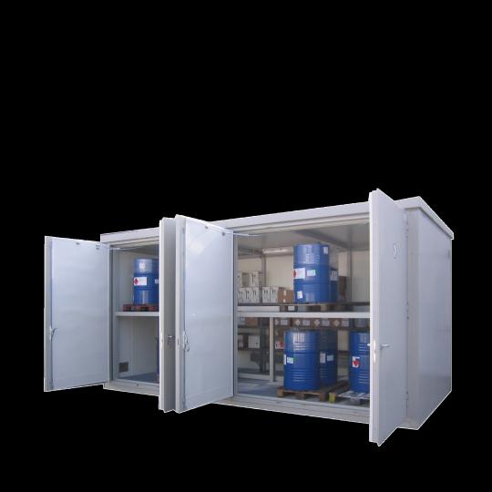 Brandwerende opslagcontainer met looppad - Protecta Solutions