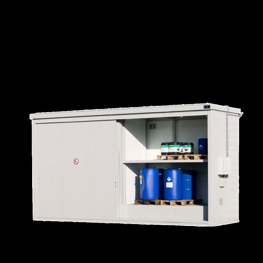 Brandwerende opslagcontainer met schuifdeuren - Protecta Solutions