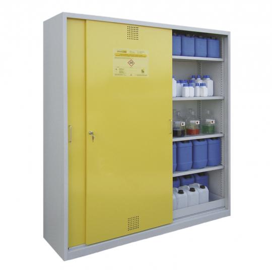 Chemicaliënkast met schuifdeuren - Protecta Solutions