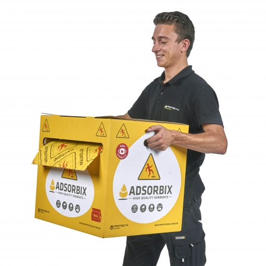 ADSORBIX High Visibility absorptierol in dispenser - Protecta Solutions