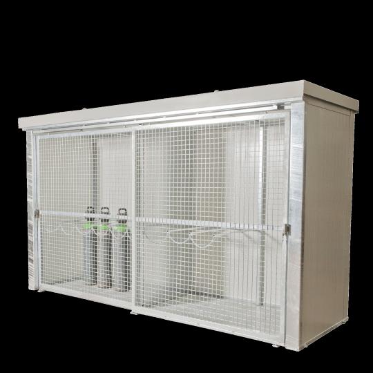 Brandwerende gasflessencontainer met gaasdeuren - Protecta Solutions