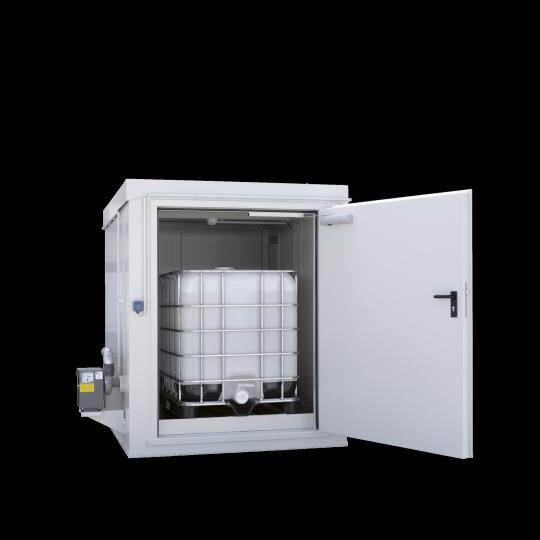 Brandwerende opslagcontainer voor 1 IBC - Protecta Solutions