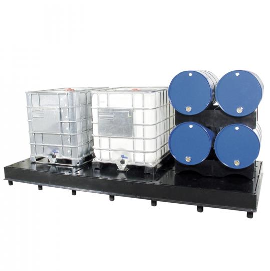 Kunststof HDPE lekbakken voor IBC's - Protecta Solutions