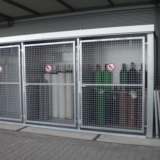 Brandwerende container voor gasflessen - Protecta Solutions