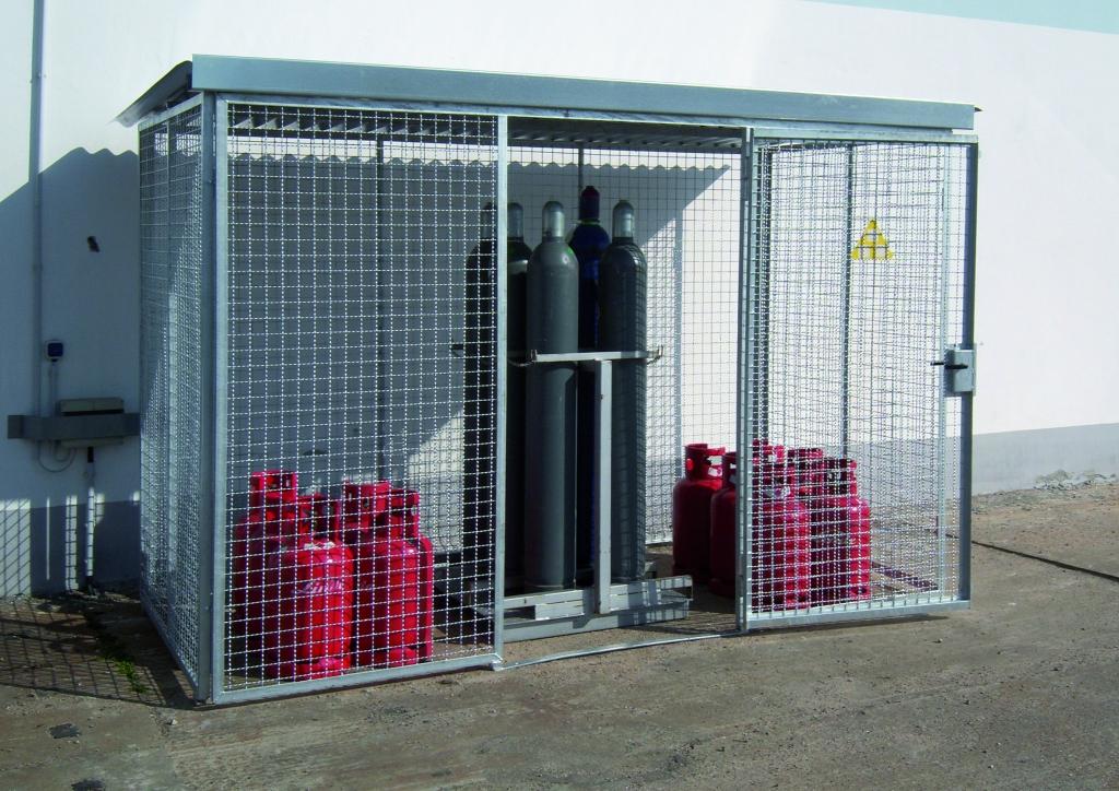 Cages à bouteilles de gaz (à monter)   Protecta solutions