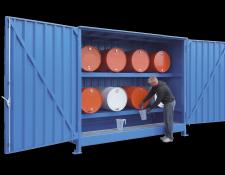 Opslagcontainer voor liggende vaten