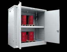 Brandwerende opslagcontainer voor vaten