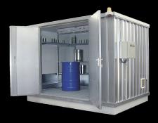 Thermisch geïsoleerde betreedbare containers