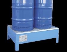 Stalen opvangbak voor 60 L vat - Protecta Solutions