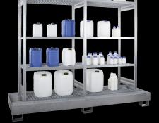 Opslagrekken in lekbak - Protecta Solutions