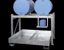 Stalen aftapstations voor 200 L vaten - Protecta Solutions